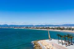 Praia de Salou, Espanha Fotografia de Stock Royalty Free
