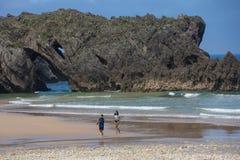 Praia de San Antolin fotografia de stock royalty free