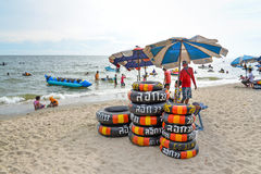 Praia de San do golpe, Chonburi, Tailândia Fotografia de Stock