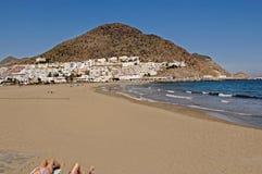 Praia de San Jose no Cabo de Gata, Parck natural, provi de Almeria fotografia de stock royalty free