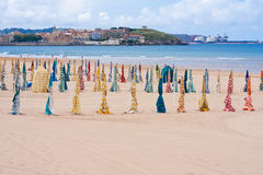 Praia de San Lorenzo Imagens de Stock