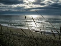 Praia de Sandnes, Noruega imagens de stock