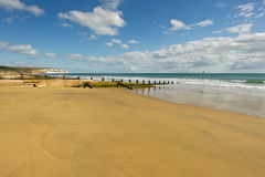 Praia de Sandown Foto de Stock Royalty Free