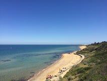Praia de Sandringham Fotografia de Stock Royalty Free