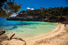 Praia de Sandy Cala Gat Foto de Stock Royalty Free