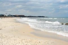 Praia de Sandy em Tunísia Fotos de Stock Royalty Free
