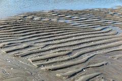 Praia de Sandy na maré baixa Foto de Stock