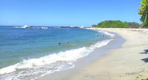 Praia de Sanjuanillo, Guanacaste, Costa Rica imagens de stock