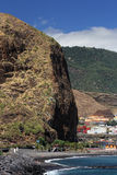Praia de Santa Cruz de La Palma (Ilhas Canárias) Foto de Stock Royalty Free