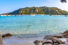 Praia de Santa-Giulia imagem de stock