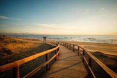 Praia de Santa Pola fotografia de stock royalty free