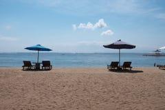 Praia de Sanur na manhã Foto de Stock Royalty Free