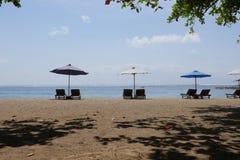 Praia de Sanur na manhã Imagens de Stock Royalty Free