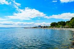 A praia de Sassnitz Fotos de Stock Royalty Free