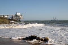 Praia de Sauvage da costa Foto de Stock