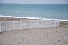 Praia de Savona com ideias dos estabelecimentos da praia fotografia de stock