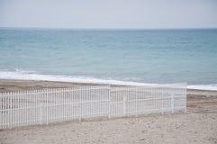 Praia de Savona com ideias dos estabelecimentos da praia fotografia de stock royalty free
