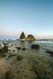 Praia de Sawarna Fotografia de Stock