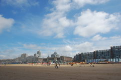 Praia de Scheveningen imagem de stock