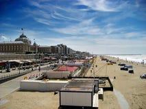 Praia de Scheveningen, Países Baixos Foto de Stock Royalty Free