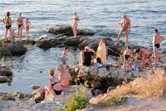 Praia de Sebastopol Imagem de Stock Royalty Free