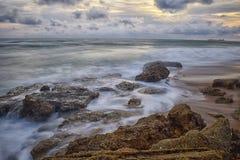 Praia de seda Imagem de Stock