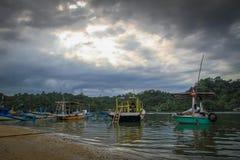 Praia de Sempu Imagens de Stock Royalty Free