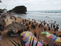 Praia de Sepanjang Imagem de Stock