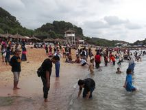 Praia de Sepanjang Imagem de Stock Royalty Free