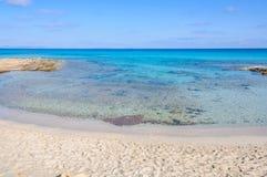 Praia de Ses Platgetes em Formentera, Espanha foto de stock royalty free