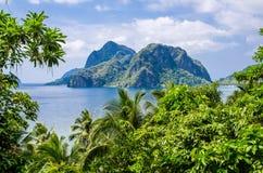 Praia de sete comandos, EL, Nido, Palawan, Filipinas fotos de stock royalty free