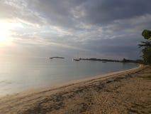 Praia de sete milhas em Negril jamaica Imagem de Stock