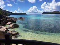 praia de seychelles Imagens de Stock Royalty Free