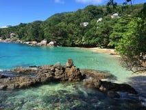 praia de seychelles Imagem de Stock