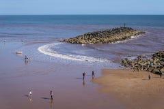 Praia de Sidmouth, Devon do leste, Inglaterra, Reino Unido imagem de stock royalty free