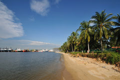 Praia de Singapore Paser Ris Imagens de Stock