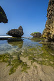 Praia de Siung, Jogjakarta, Indonésia Imagens de Stock