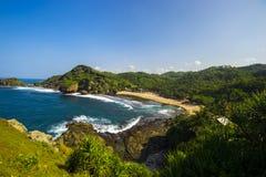 Praia de Siung, Jogjakarta, Indonésia Fotografia de Stock