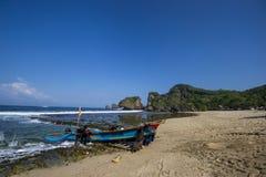 Praia de Siung, Jogjakarta, Indonésia Imagem de Stock