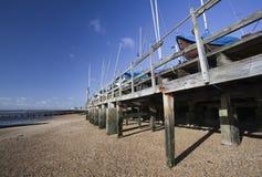 Praia de Southend, Essex, Inglaterra Fotografia de Stock