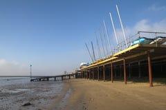 Praia de Southend, Essex, Inglaterra Imagens de Stock