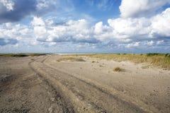 Praia de Spiekeroog Fotos de Stock Royalty Free
