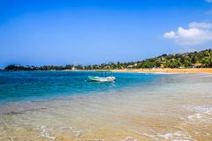 Praia de Sri Lanka Galle Unawatuna imagem de stock