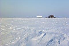 Praia de St. Peter-Ording no inverno imagens de stock royalty free