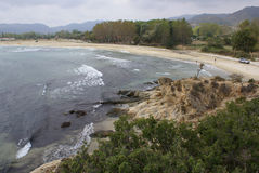 Praia de Sykia Imagem de Stock Royalty Free