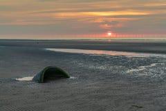 Praia de Talacre, Flintshire, Clwyd, Gales, Reino Unido imagens de stock royalty free