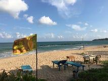 Praia de Tangalle imagens de stock royalty free