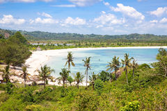 Praia de Tanjung Aan, Lombok Imagens de Stock Royalty Free