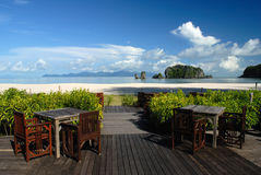 Praia de Tanjung Rhu, Langkawi em Malaysia imagens de stock royalty free