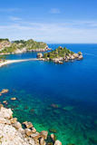 Praia de Taormina, Foto de Stock Royalty Free